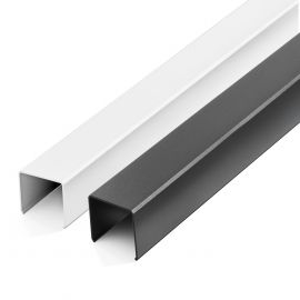 The Fortress AL13 Home Flat Accent Top Rails are available in Black Sand and Matte White finishes.