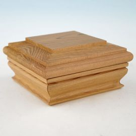 The Wood Flat Top Post Cap with Skirt by Woodway is the gorgeous, natural-looking way to polish off your deck posts.
