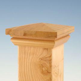 Wood Hatteras Pyramid Post Cap by Woodway - Cedar