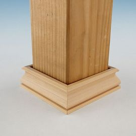 "Wood 2-Piece Post Skirt Kit by Woodway - 5-5/8"" Cedar"