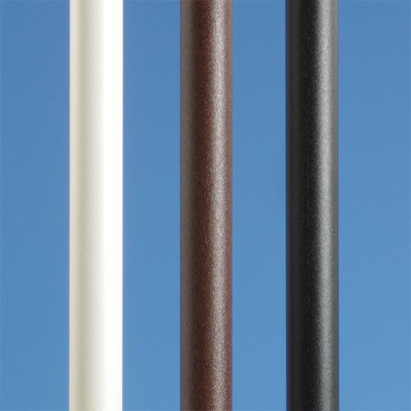 36-inch by 3//4-inch Aluminum Round Black Smooth Balusters 5 Pack