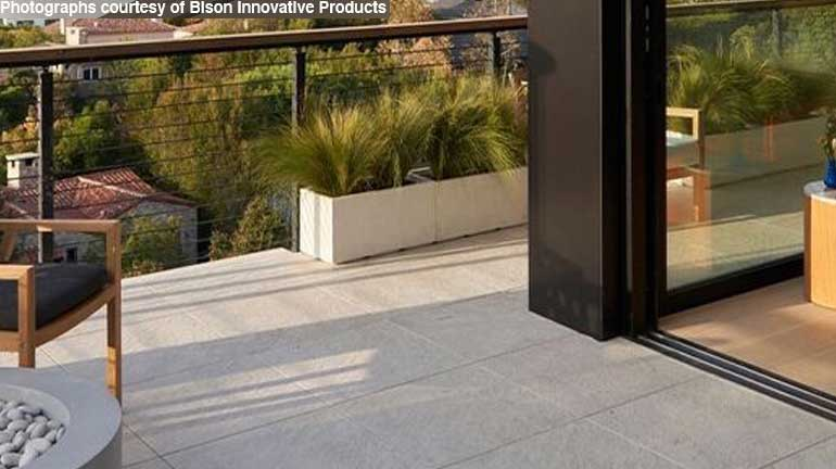 Bison 2CM Pavers finish off a rooftop deck giving it a contemporary and elegant feel.