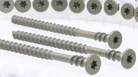 Gray collated deck screws from DecksDirect