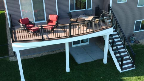 Metal Deck Railing creates a solid deck railing system whether working with aluminum deck railing or steel railing panels