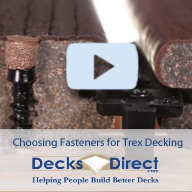 Choosing Trex Fasteners Video