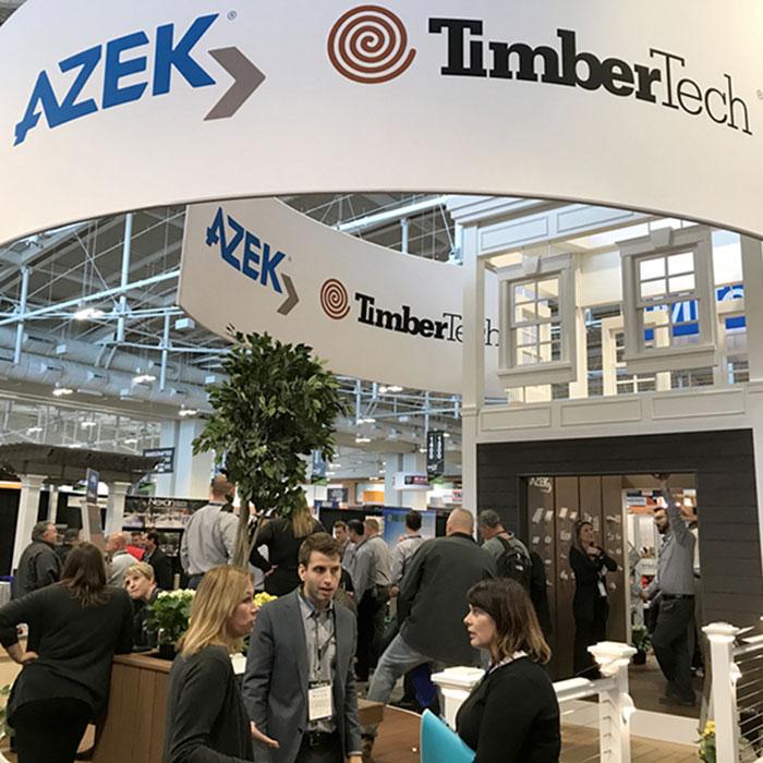 AZEK TimberTech Booth at trade show