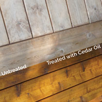 Wood Treated with Cedar Oil vs. Untreated