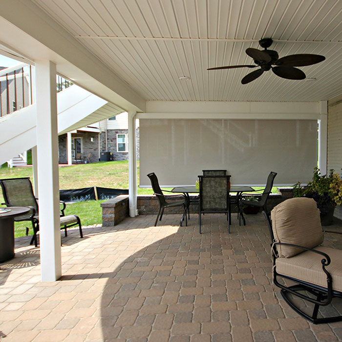 View of two story deck featuring Trex RainEscape Deck Drainage