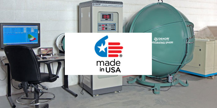 Dekor TEsting Facility in the USA where their products are made