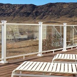 Fortress Aluminum Pure View Full Glass Panel Rail