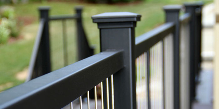 close up of Fortress railing showcasing their commitment to quality