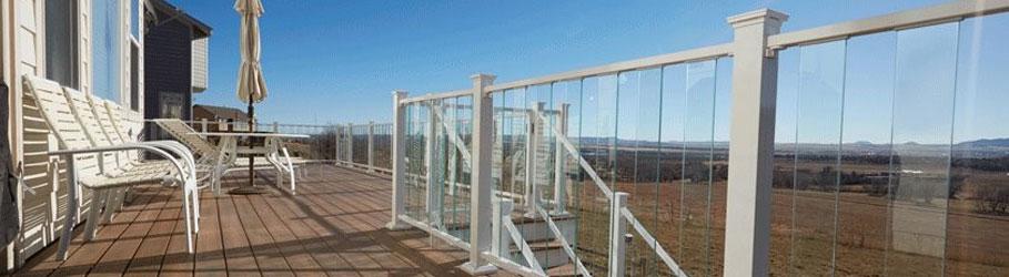Glass Baluster Deck Railing