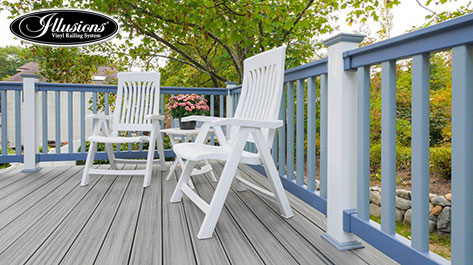 Illusions 174 Vinyl Railing Com Decksdirect