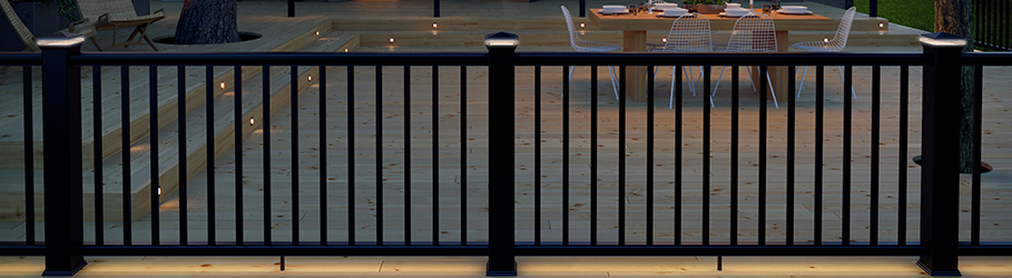 deck railing systems cable vertical metal glass canada