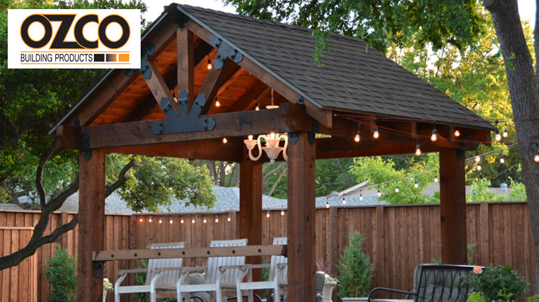 A pergola in the backyard makes for a dreamy outdoor oasis.
