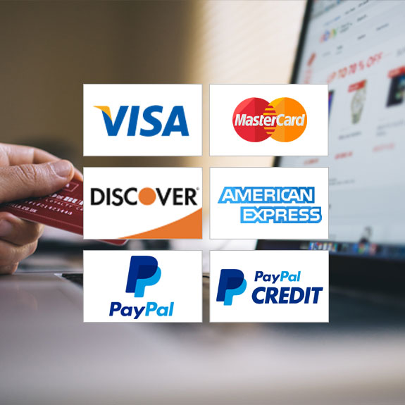 DecksDirect gladly accepts Visa, MasterCard, American Express, and Discover. We also accept check cards issued through these major credit card companies.