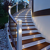 An Example of Deck Railing Lighting