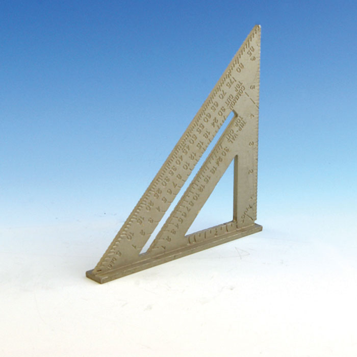 a speed square sitting upright