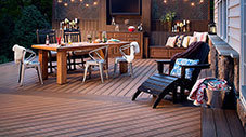 deckorators outdoor deck with furniture