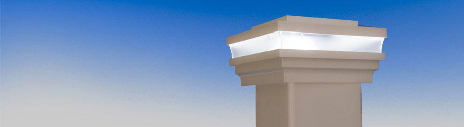 Composite & Vinyl Solar Post Caps