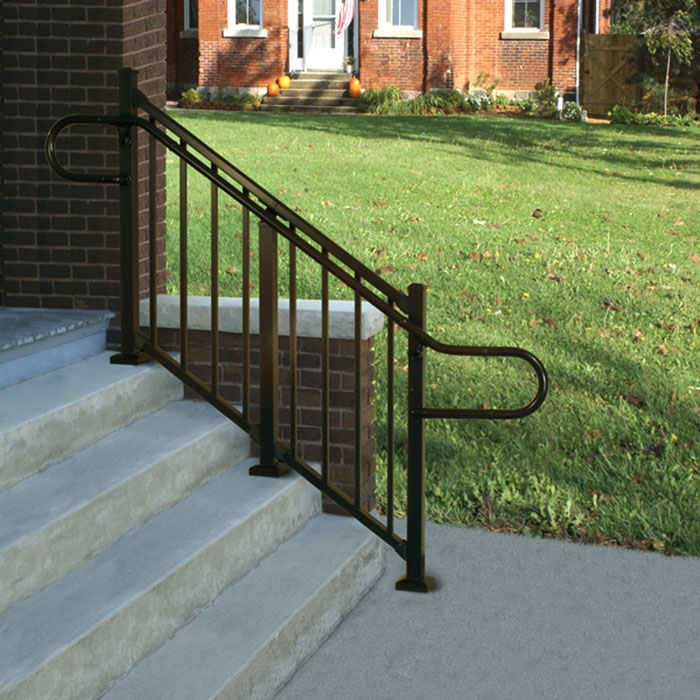 Stair Railing with Continuous Handrail