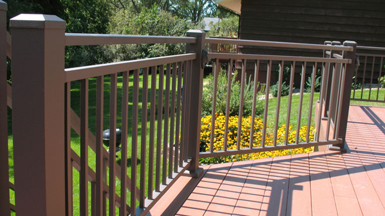 Westbury Riviera C30 Stair and Level Rail Section. Features Westbury 2 inch Post and Post Skirts.