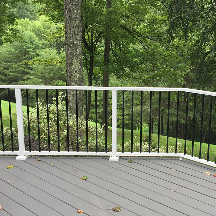 Westbury Tuscany Aluminum Railingin White with Black Balusters
