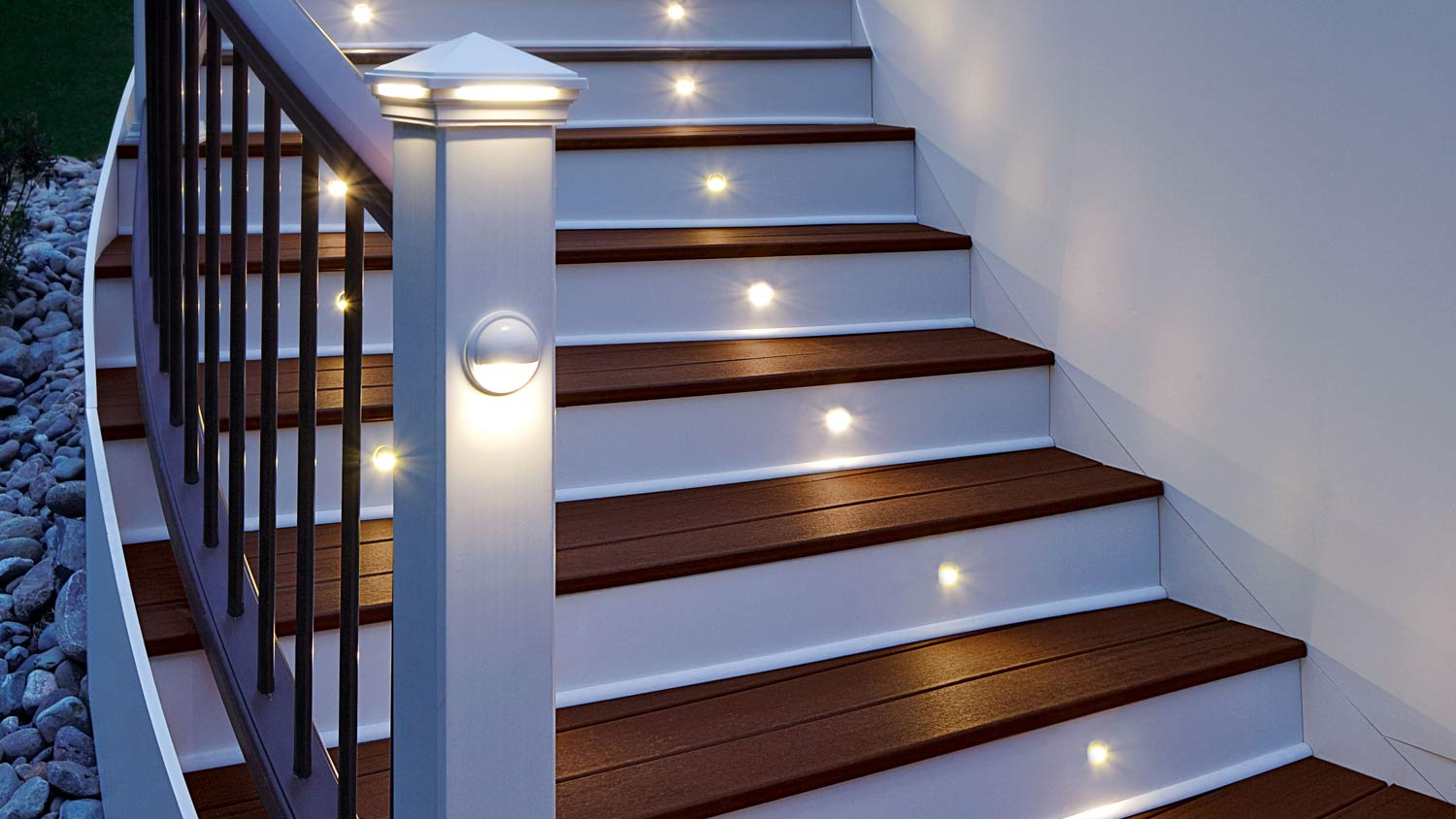 Stair Lighting, Like Recessed Riser Lights, Rail Lighting, Or Path Lighting  Are All Great For Keeping The Night Eventful... For All The Right Reasons.