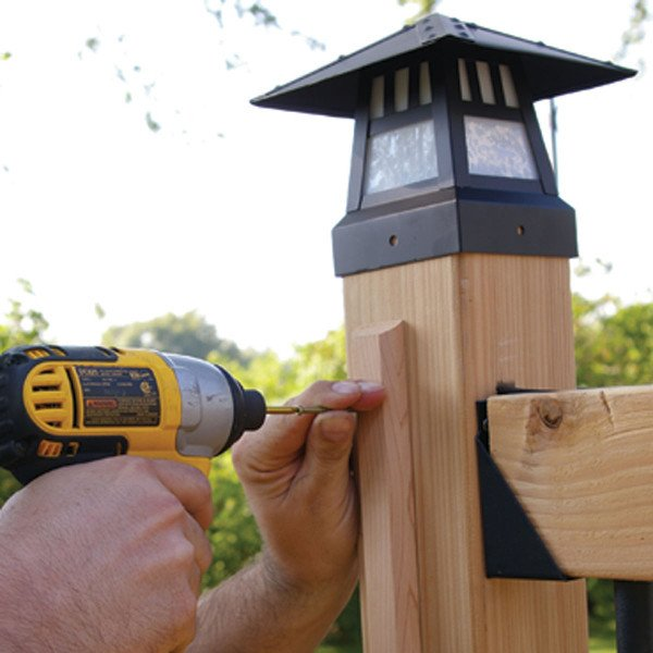 Close up of Classy Cap Solar Deck light