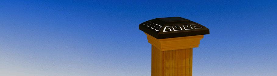 Wood Solar Post Caps