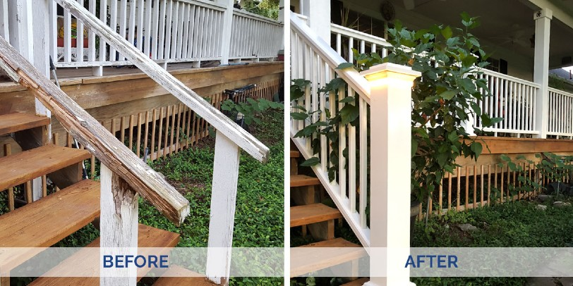 Learn how to replace old deck railing step by step and ...