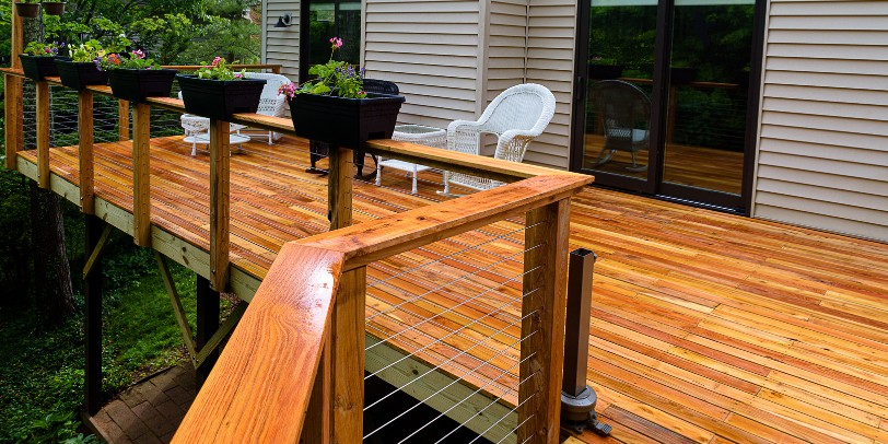 Find out how to install cable railing along deck corners ...