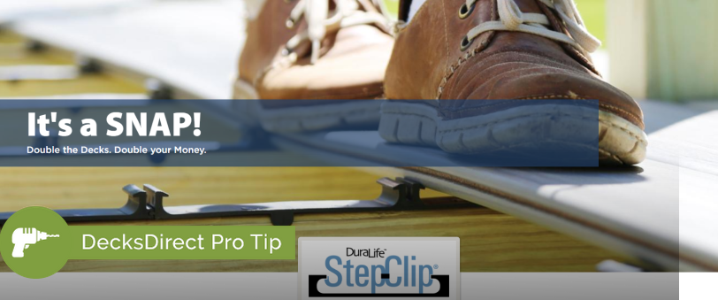 Learn how to install DuraLife composite decking quickly, securely and easily with the DuraLife Step-Clip Hidden Fastening System