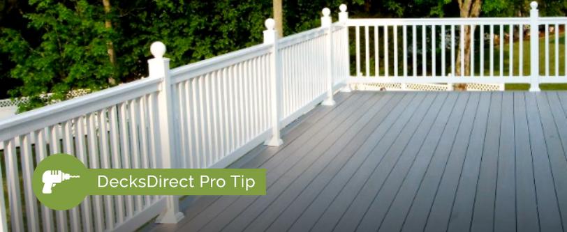 DecksDirect Pro Tip: Keep Vinyl Railing Looking Great