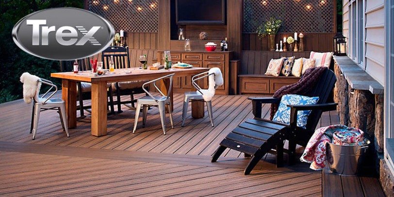 Find out how to install your Trex composite deck boards such as in this beautiful outdoor living room