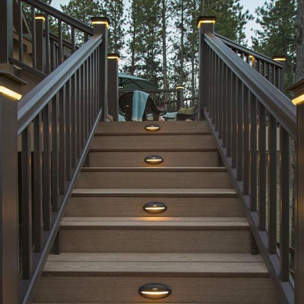 DeckLites LED Riser Lights & DeckLites Post Light Module by TimberTech DeckLites