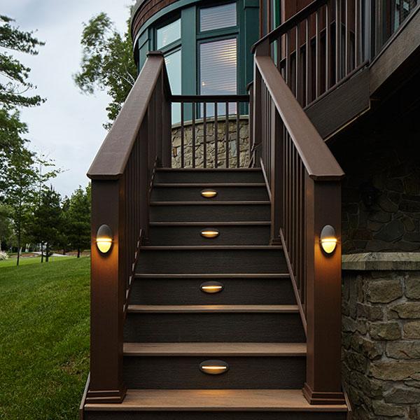 Deck Lighting Image Gallery Timbertech Decksdirect