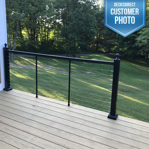 Keylink Cable Railing Image Gallery Decksdirect