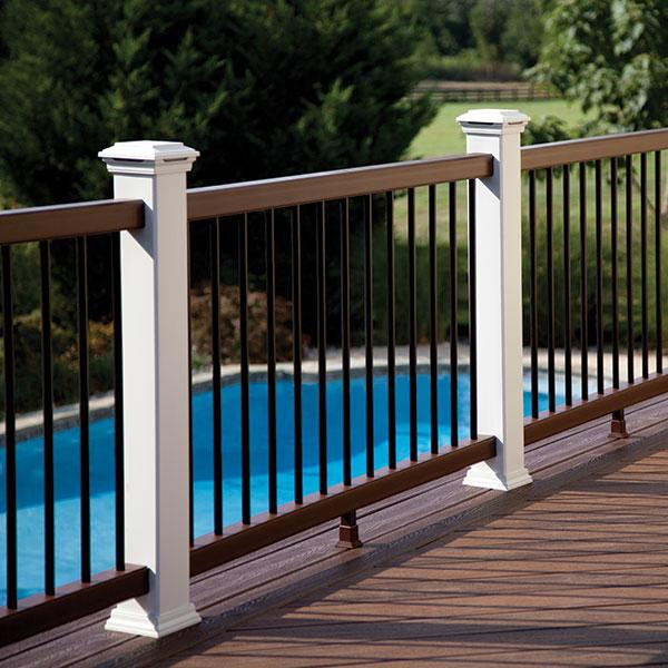Railing image gallery trex transcend decksdirect for Composite deck railing