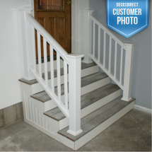 Deckorators CXT Composite Railing in White with Square Composite Balusters