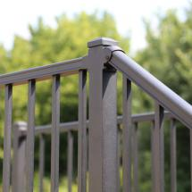 Westbury Liberty Aluminum Rail with Fixed Stair Bracket in Bronze