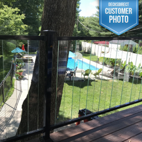 Fortress FE26 Steel Railing Panels with Pure View Glass Rails