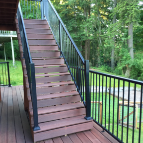 Century Aluminum Picket Railing in Textured Black