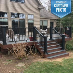 AFCO Pro Aluminum Railing with AFCO Aluminum Newel Post Cover Kit
