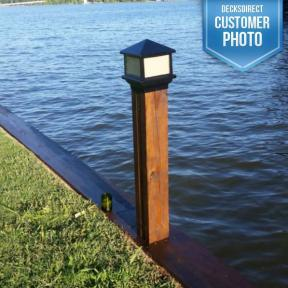 Sirius Post Cap Light by Aurora Deck Lighting