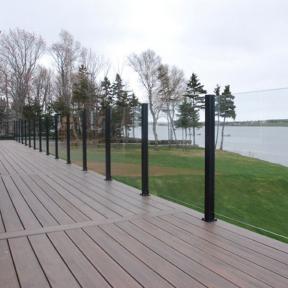 Century Scenic Glass Railing System in Black