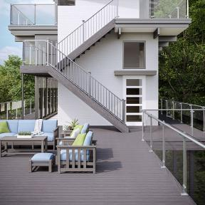 Help your space look picture perfect with Deckorators Vault Decking and Vault Fascia in Dusk.