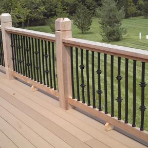 Square Aluminum Casey Collar Balusters by Dekor