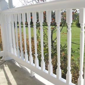 Durables Vinyl Railing System The Ashington Rail. Features Durables Foot Block.