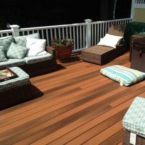 With a soft, smooth surface, DuraLife Siesta Grooved Edge Deck Boards floor seating options are endless.